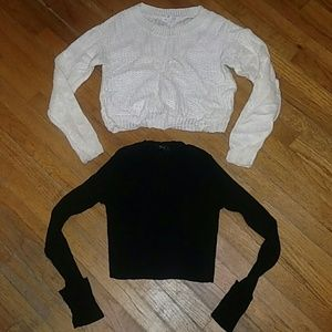 2 Cropped Sweaters EUC